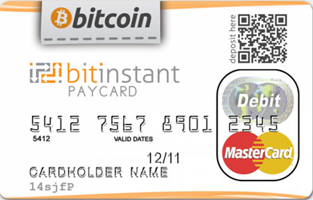 bitcoin debit credit card